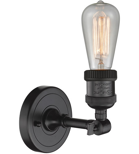 Innovations Lighting 203NH-OB-LED Bare Bulb LED 5 inch Oil Rubbed Bronze Sconce Wall Light alternative photo thumbnail