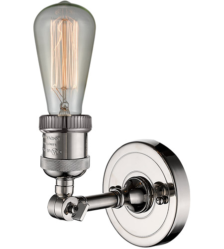 Innovations Lighting 203NH-PN-LED Bare Bulb LED 5 inch Polished Nickel Sconce Wall Light alternative photo thumbnail