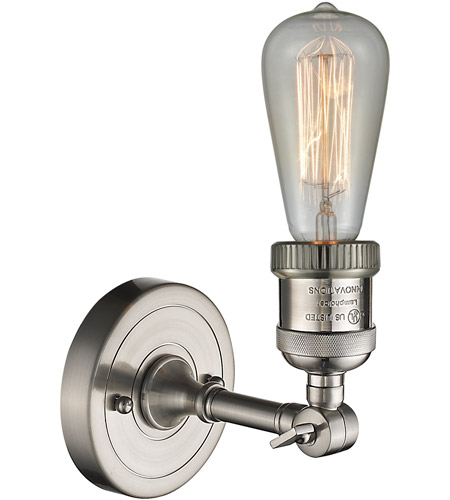 Innovations Lighting 203NH-SN Bare Bulb 1 Light 5 inch Brushed Satin Nickel Sconce Wall Light alternative photo thumbnail