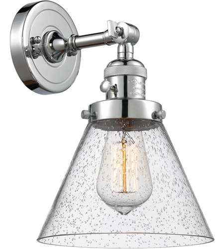 Polished Chrome Innovations 203SW-PC-G43 1 Light Sconce with aHigh-Low-Off Switch