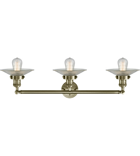 Innovations Lighting 205-AB-G2-LED Halophane LED 33 inch Antique Brass Bath Vanity Light Wall Light, Franklin Restoration alternative photo thumbnail