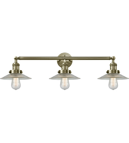 Innovations Lighting 205-AB-G2-LED Halophane LED 33 inch Antique Brass Bath Vanity Light Wall Light, Franklin Restoration photo thumbnail
