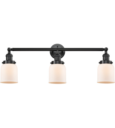 Innovations Lighting 205-OB-S-G51-LED Small Bell LED 30 inch Oil Rubbed Bronze Bath Vanity Light Wall Light, Franklin Restoration photo