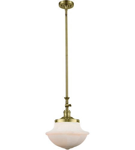 Innovations Lighting 206-AB-G542W Oxford School House 1 Light 12 inch Antique Brass Pendant Ceiling Light, Franklin Restoration photo