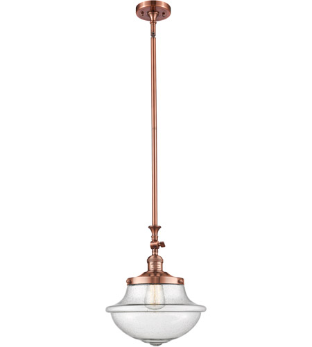 Innovations Lighting 206-AC-G542SDY-LED Oxford School House LED 12 inch Antique Copper Pendant Ceiling Light, Franklin Restoration photo
