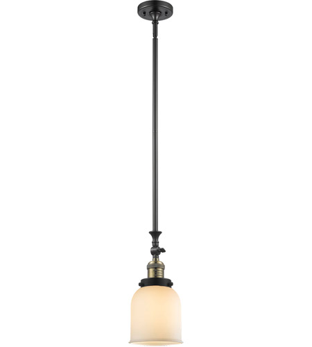 Innovations Lighting 206-BBB-G51 Signature 1 Light 6 inch Black and Brushed Brass Mini Pendant Ceiling Light, Small, Bell photo