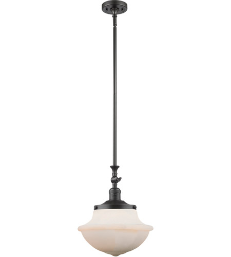 Innovations Lighting 206-OB-G542W Oxford School House 1 Light 12 inch Oil Rubbed Bronze Pendant Ceiling Light, Franklin Restoration photo