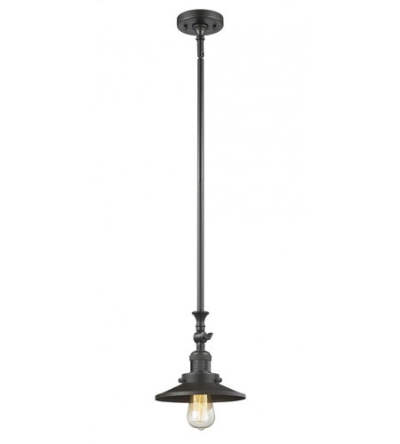 Innovations Lighting 206-OB-M5-LED Railroad LED 8 inch Oil Rubbed Bronze Mini Pendant Ceiling Light, Franklin Restoration photo