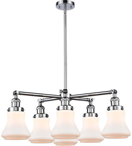 Innovations Lighting 207-6CR-PC-G191 Bellmont 6 Light 30 inch Polished Chrome Chandelier Ceiling Light, Franklin Restoration photo thumbnail