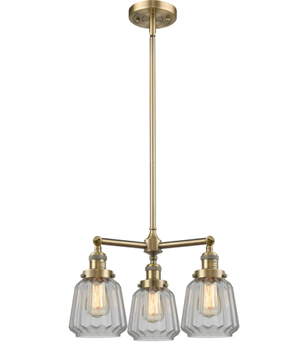 Innovations Lighting Antique Brass Glass Chandeliers