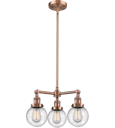 Cast Brass Beacon Chandeliers