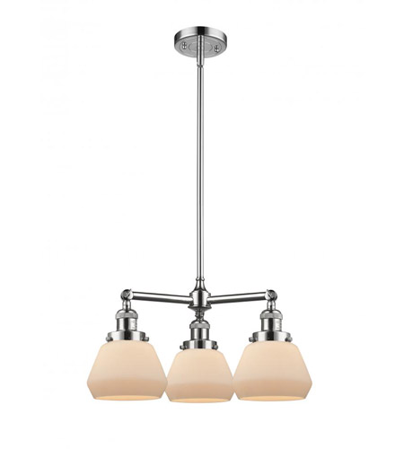Polished Chrome Cast Brass Fulton Chandeliers