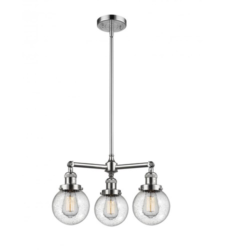 Innovations Lighting 207-PC-G204-6 Beacon 3 Light 19 inch Polished Chrome Chandelier Ceiling Light photo thumbnail