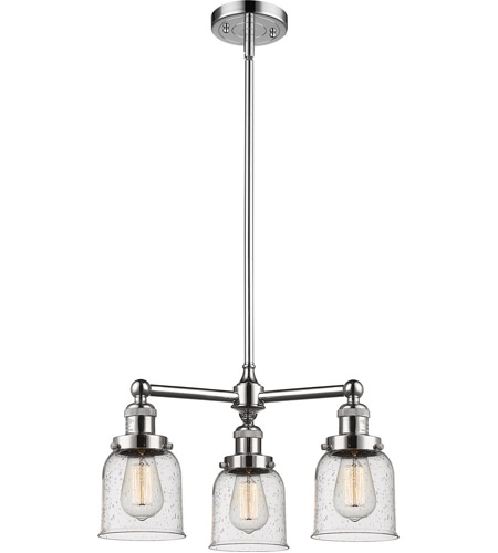 Polished Nickel Glass Small Bell Chandeliers