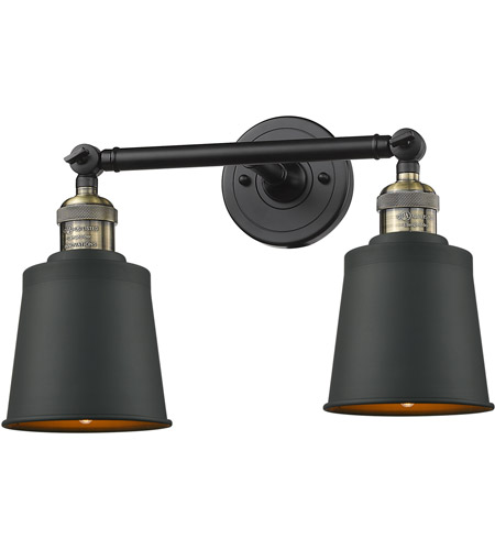Innovations Lighting 208-BBB-M9-LED Addison LED 16 inch Black Brushed Brass Bathroom Fixture Wall Light photo