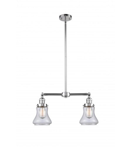 Polished Chrome Glass Bellmont Chandeliers