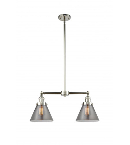 Polished Nickel X-large Cone Chandeliers