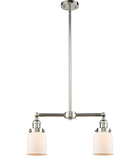 Polished Nickel Small Bell Chandeliers