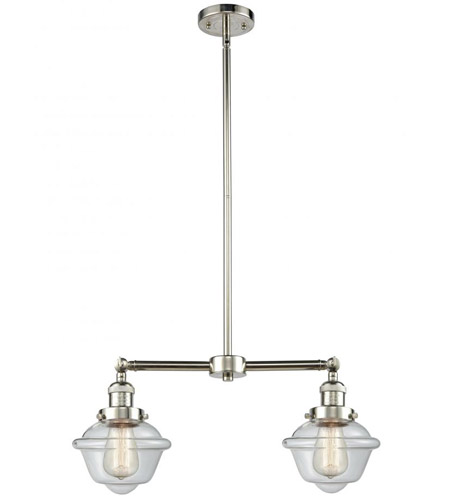 Polished Nickel Small Oxford Chandeliers