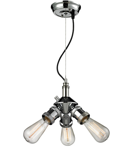 Innovations Lighting 209nh Pn Bare Bulb 3 Light 8 Inch Polished Nickel Mini Chandelier Ceiling