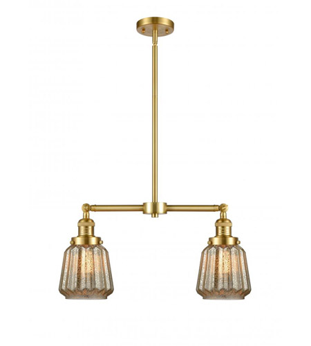 Innovations Lighting 209-SG-G146 Chatham 2 Light 21 inch Satin Gold Chandelier Ceiling Light photo thumbnail