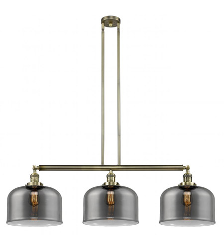 Innovations Lighting 213-AB-G73-L X-Large Bell 3 Light 42 inch Antique Brass Island Light Ceiling Light, Franklin Restoration photo thumbnail