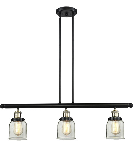 Innovations Lighting 213-BBB-G52 Signature 3 Light 36 inch Black and Brushed Brass Island Light Ceiling Light, Small, Bell photo