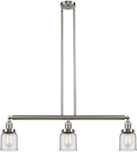 Brushed Satin Nickel Glass Island Lights