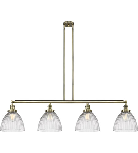 Innovations Lighting 214-AB-S-G222-LED Seneca Falls LED 51 inch Antique Brass Island Light Ceiling Light, Franklin Restoration photo