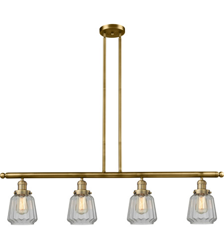Brushed Brass Glass Chatham Island Lights
