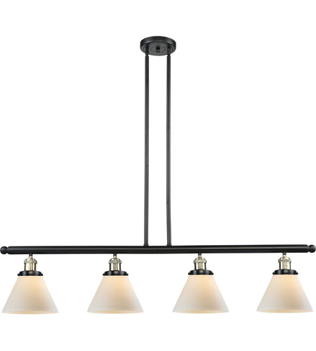 Innovations Lighting 214-BBB-G41 Signature 4 Light 48 inch Black and Brushed Brass Island Light Ceiling Light, Large, Cone photo