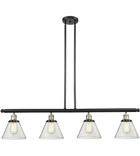 Innovations Lighting 214-BBB-G42 Signature 4 Light 48 inch Black and Brushed Brass Island Light Ceiling Light, Large, Cone photo