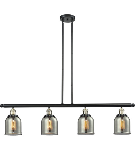 Innovations Lighting 214-BBB-G53 Signature 4 Light 48 inch Black and Brushed Brass Island Light Ceiling Light, Small, Bell photo