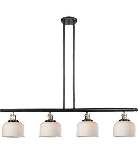 Innovations Lighting 214-BBB-G71 Signature 4 Light 48 inch Black and Brushed Brass Island Light Ceiling Light, Large, Bell photo