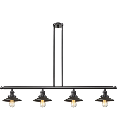 Innovations Lighting 214-OB-S-M5-LED Railroad LED 53 inch Oil Rubbed Bronze Island Light Ceiling Light, Franklin Restoration photo