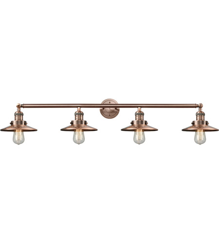 Innovations Lighting 215-AC-S-M3-LED Railroad LED 44 inch Antique Copper Bath Vanity Light Wall Light, Franklin Restoration photo