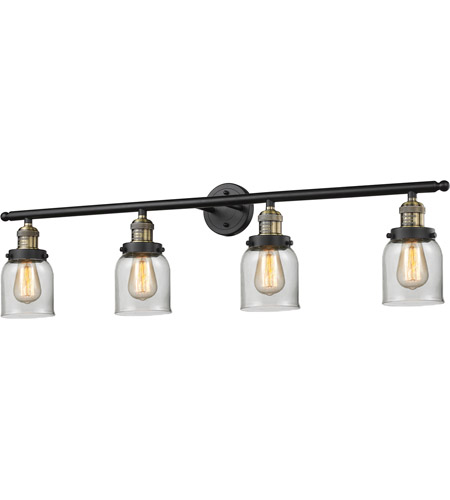 Innovations Lighting 215-BBB-G52 Signature 4 Light 42 inch Black and Brushed Brass Vanity Light Wall Light, Small, Bell photo