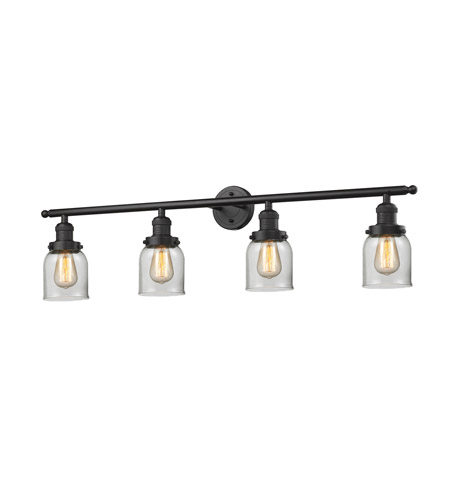Innovations Lighting 215-OB-G52-LED Small Bell LED 42 inch Oil Rubbed Bronze Bath Vanity Light Wall Light, Franklin Restoration photo
