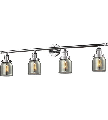 Innovations Lighting 215-PC-S-G53-LED Small Bell LED 42 inch Polished Chrome Bath Vanity Light Wall Light, Franklin Restoration photo
