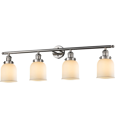 Innovations Lighting 215-PN-G51-LED Small Bell LED 42 inch Polished Nickel Bath Vanity Light Wall Light, Franklin Restoration photo