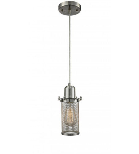 Innovations Lighting 219-SN Quincy Hall 1 Light 5 inch Brushed Satin Nickel Mini Pendant Ceiling Light photo