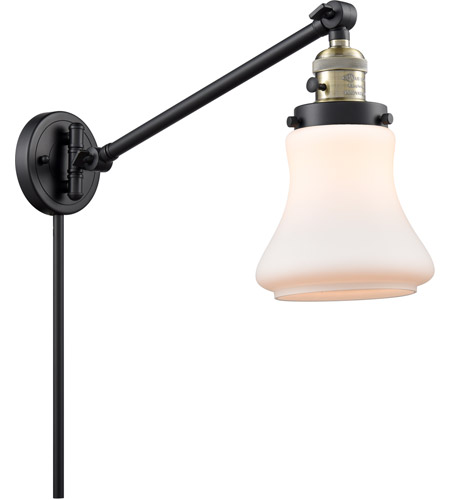 Innovations Lighting 237-BAB-G191 Bellmont 35 inch 60 watt Black Antique Brass Swing Arm Wall Light, Franklin Restoration photo thumbnail