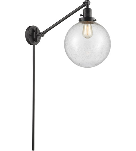 Innovations Lighting 237-OB-G204-10 X-Large Beacon 18 inch 60 watt Oil Rubbed Bronze Swing Arm Wall Light, Franklin Restoration photo thumbnail