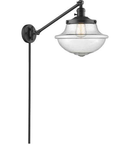 Innovations Lighting 237-OB-G544-LED Large Oxford 20 inch 3.5 watt Oil Rubbed Bronze Swing Arm Wall Light, Franklin Restoration photo thumbnail