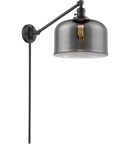 Innovations Lighting 237-OB-G73-L X-Large Bell 12 inch 60 watt Oil Rubbed Bronze Swing Arm Wall Light, Franklin Restoration photo thumbnail