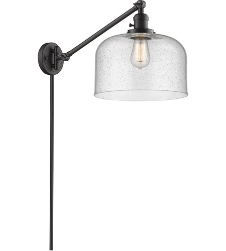 Innovations Lighting 237-OB-G74-L X-Large Bell 12 inch 60 watt Oil Rubbed Bronze Swing Arm Wall Light, Franklin Restoration photo thumbnail
