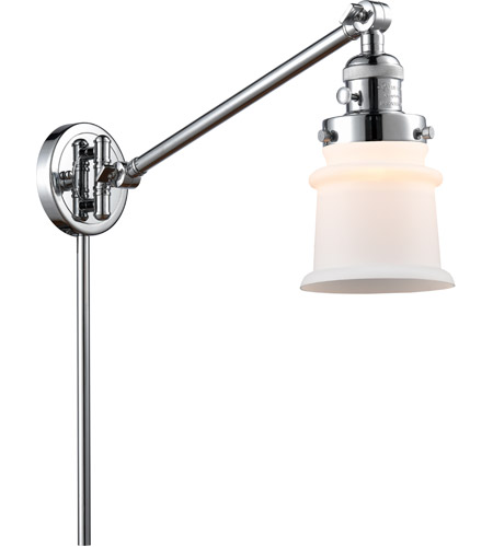 Innovations Lighting 237-PC-G181S Small Canton 35 inch 60.00 watt Polished Chrome Swing Arm Wall Light, Franklin Restoration photo thumbnail