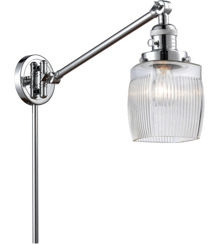Innovations Lighting 237-PC-G302 Colton 30 inch 60 watt Polished Chrome Swing Arm Wall Light, Franklin Restoration photo thumbnail