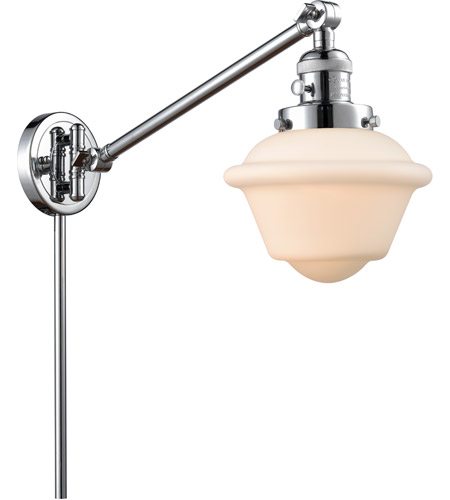 Innovations Lighting 237-PC-G531 Small Oxford 30 inch 60 watt Polished Chrome Swing Arm Wall Light, Franklin Restoration photo thumbnail