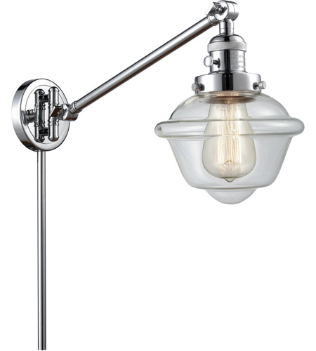 Innovations Lighting 237-PC-G532 Small Oxford 30 inch 60 watt Polished Chrome Swing Arm Wall Light, Franklin Restoration photo thumbnail